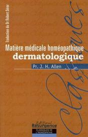Matière médicale homéopathique dermatologique - Intérieur - Format classique