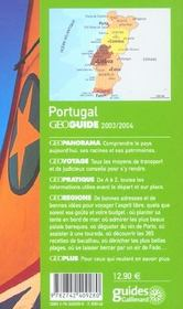 Geoguide ; Portugal (Edition 2003/2004) - 4ème de couverture - Format classique