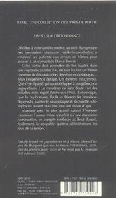 David Sur Ordonnance Babel Noir 4 - 4ème de couverture - Format classique