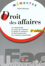 Memento droit des affaires - Intérieur - Format classique
