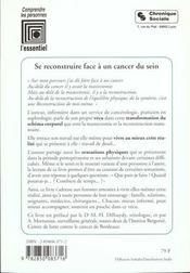 Se Reconstruire Face A Un Cancer Du Sein - 4ème de couverture - Format classique