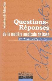 Questions-réponses de la matière médicale de base - Intérieur - Format classique