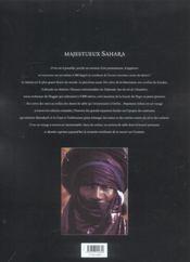 Sahara - 4ème de couverture - Format classique