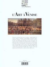 Art A Venise (L') - 4ème de couverture - Format classique