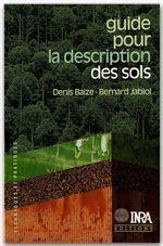 Guide pour la description des sols - Couverture - Format classique