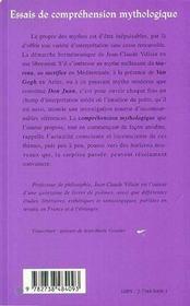 Essais de comprehension mythologique ; les sacrifiés - 4ème de couverture - Format classique