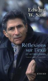 Reflexions Sur L'Exil ; Et Autres Essais - Intérieur - Format classique