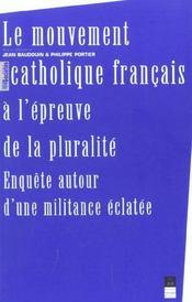 Mouvement Catholique Francais A L Epreuve De La Pluralite - Intérieur - Format classique