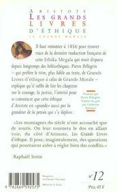 Grands Livres D'Ethique (Les) - 4ème de couverture - Format classique