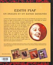 Chansons en bd t.4 ; edith piaf en bd - 4ème de couverture - Format classique