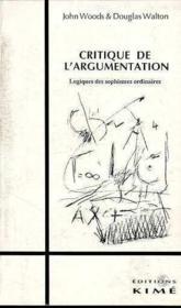 Critique de l'argumentation - Couverture - Format classique