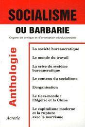 Socialisme ou barbarie ; organe de critique et d'orientation révolutionnaire - Couverture - Format classique