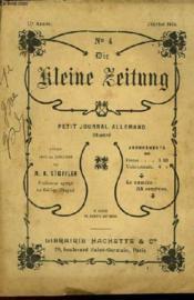 Die Kleine Zeitung N°4 - Petit Journal Allemand Illustre - Couverture - Format classique