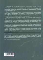 Ingenierie Des Procedes Electrochimiques - 4ème de couverture - Format classique