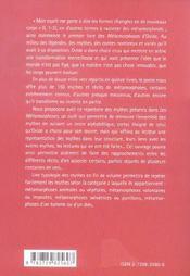 Repertoire Mythologique Dans Les Metamorphoses D'Ovide - 4ème de couverture - Format classique