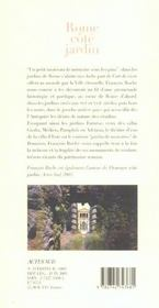 Rome, Cote Jardin - 4ème de couverture - Format classique