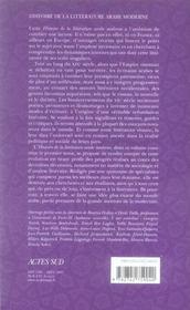 Histoire de la littérature arabe moderne t.1 ; 1800-1945 - 4ème de couverture - Format classique