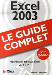 Microsoft excel 2003 - Intérieur - Format classique