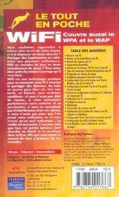 Wifi ; Couvre Aussi Wpa Et Wap - 4ème de couverture - Format classique