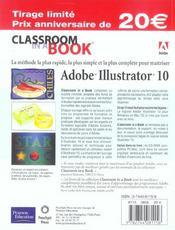 Illustrator 10 - 4ème de couverture - Format classique