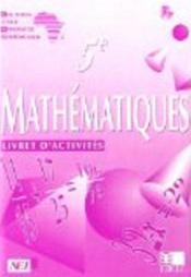 Mathematiques ciam 5e / livret d'activites - Couverture - Format classique