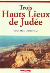 Trois hauts lieux de judee - Intérieur - Format classique