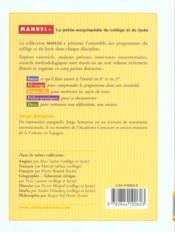 Espagnol; College Et Lycee - 4ème de couverture - Format classique