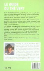 Le guide du thé vert - 4ème de couverture - Format classique