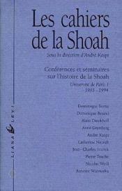 Cahiers De La Shoah No1 93/94 - Couverture - Format classique