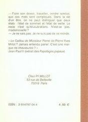 Le caillou de monsieur pierre - 4ème de couverture - Format classique