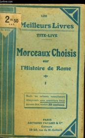 Morceaux Choisis Sur L'Histoire De Rome - Tome 1 - Couverture - Format classique