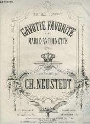 Gavotte Favorite De Marie Antoinette Pour Piano. - Couverture - Format classique