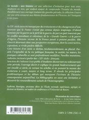 Les Xxe Siecles Francais La France Et Les Francais De 1914 A Nos Jours - 4ème de couverture - Format classique
