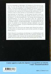 Compact Physique Cours Et Exercices Corriges Pcsi--Mpsi-Pt L'Integralite Du Programme - 4ème de couverture - Format classique