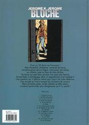 Jérôme K. Jérôme Bloche t.13 ; le pacte - 4ème de couverture - Format classique