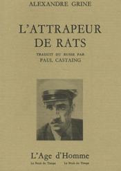 L'attrapeur de rats - Couverture - Format classique