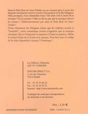 Concerto Pour Un Accord ; Comedie Pour Enfants - 4ème de couverture - Format classique