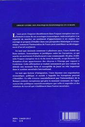 L'Euro Vecteur De L'Identite Europeenne - 4ème de couverture - Format classique