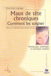 Maux De Tete Chroniques - Comment Les Soigner - Intérieur - Format classique