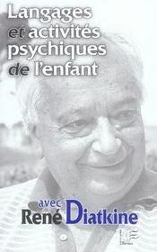 Langages et activites psychiques de l'enfant - Intérieur - Format classique