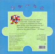 Le Livre De Puzzles D Elmer - 4ème de couverture - Format classique