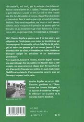 Paris, 1942, Chroniques D'Un Survivant - 4ème de couverture - Format classique