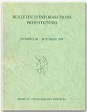 Bulletin D'Informations Proustiennes T.24 - Couverture - Format classique