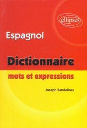 Dictionnaire Mots Et Expressions Espagnol - Intérieur - Format classique