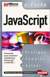 Javascript - Couverture - Format classique