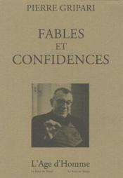 Fables et confidences - Couverture - Format classique