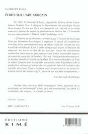 Ecrits Sur L'Art Africain - 4ème de couverture - Format classique