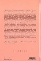 Cours d'algebre - 4ème de couverture - Format classique