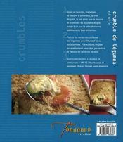 Crumbles salés et sucrés - 4ème de couverture - Format classique