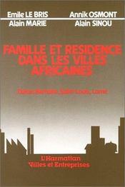 Famille et résidence dans les villes africaines - Intérieur - Format classique